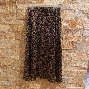 Zara Cheetah Print Midi Skirt - Size Small